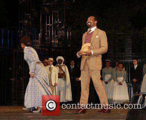 Curtain call for the opening night of 'The...