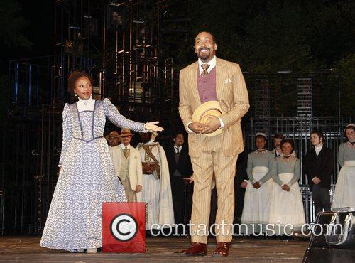 Jesse L. Martin Curtain call for the opening...