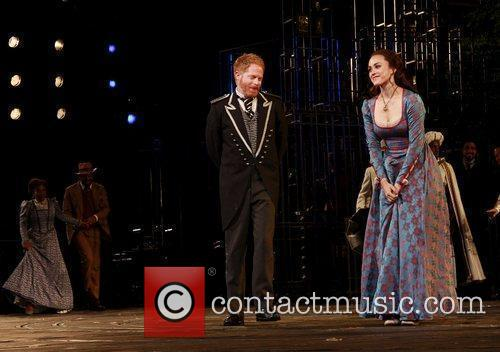 Jesse Tyler Ferguson and Heather Lind Curtain call...