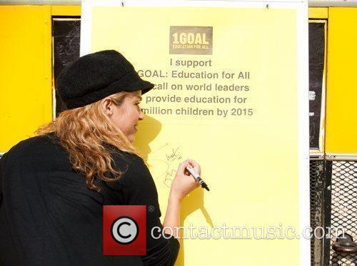 Shakira supporting the charity 1GOAL at the World...