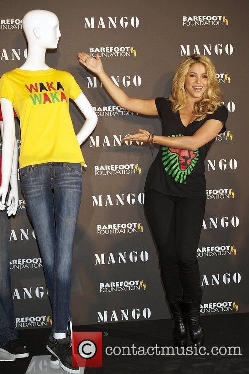 Shakira presents the new Mango solidarity T-Shirt collection...