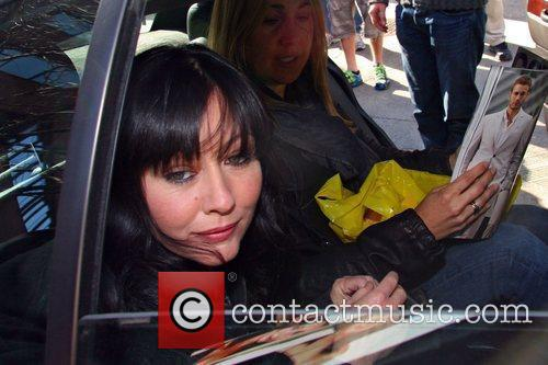 Shannen Doherty leaving the studio after appearing as...