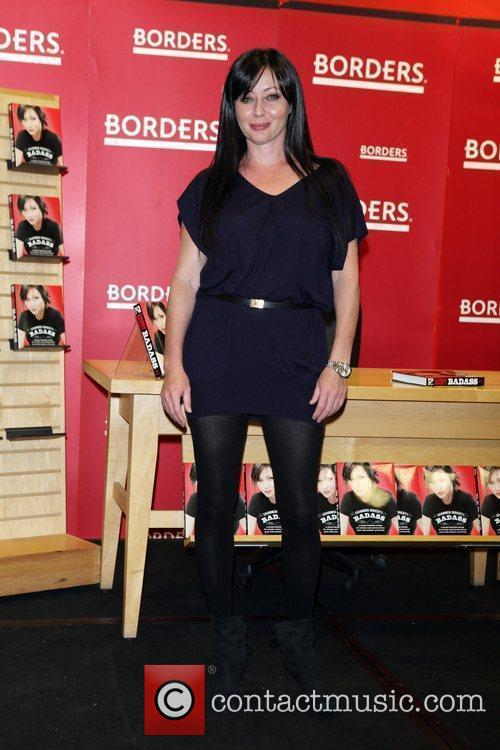 Promotes her new book 'Badass' at Borders Books...
