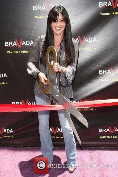 Shannen Doherty celebrates the grand opening of Bravada...
