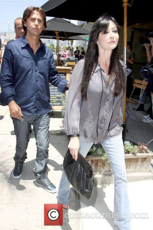 Shannen Doherty arriving for an event at Bravada...