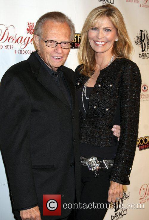Larry King and wife attend the Brent Shapiro...