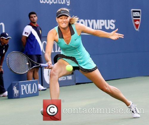 During her women's singles match on day two...