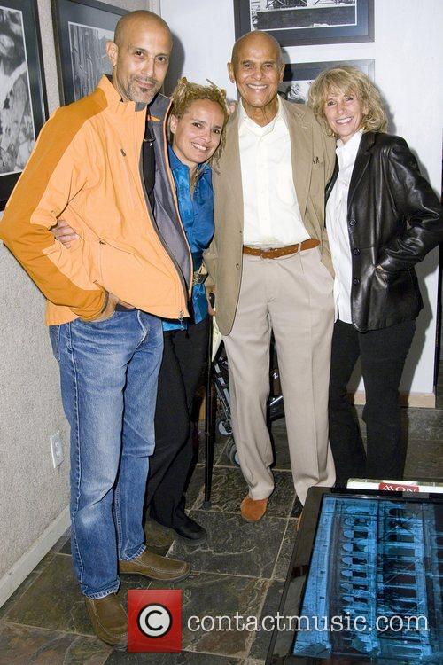 David Belafonte, Shari Belafonte, Harry Belafonte and Pamela...