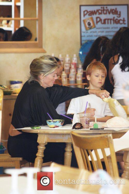 Sharon Stone takes her son Roan Joseph to...