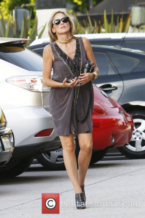Sharon Stone spotted out and about in Beverly...