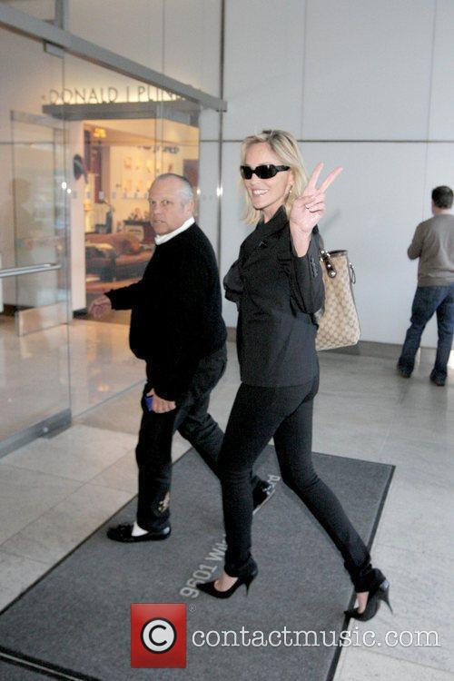 Sharon Stone leaving Villa Blanca in Beverly Hills...