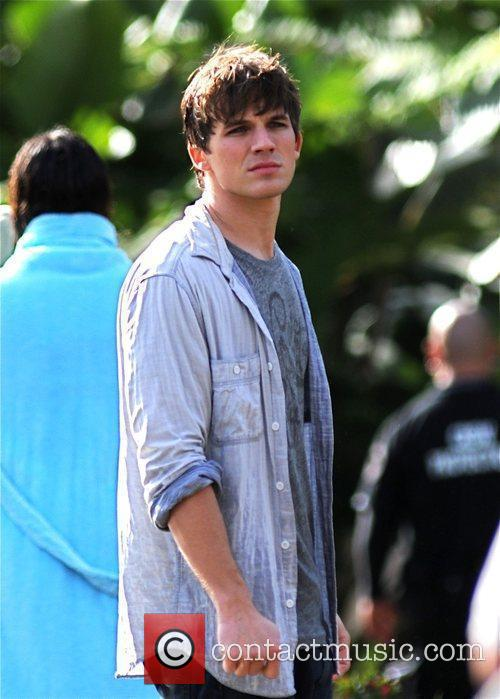 Actor on the set of '90210' filming on...