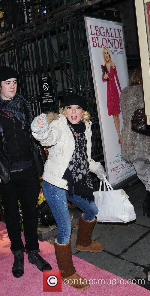Sheridan Smith leaves the Savoy theatre after her...