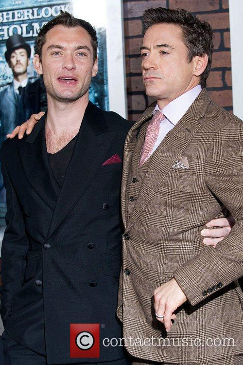 Jude Law and Robert Downey, Jr. New York...
