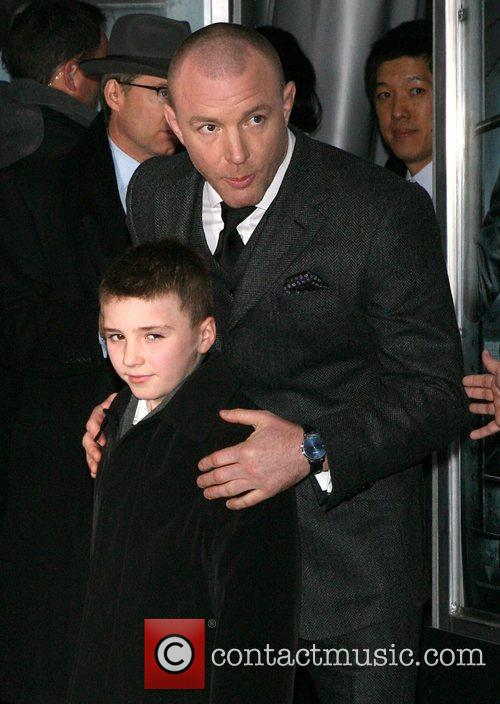 Director, Guy Ritchie and his son, Rocco Ritchie...