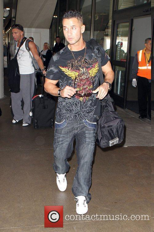 Of the reality show Jersey Shore arrive to...