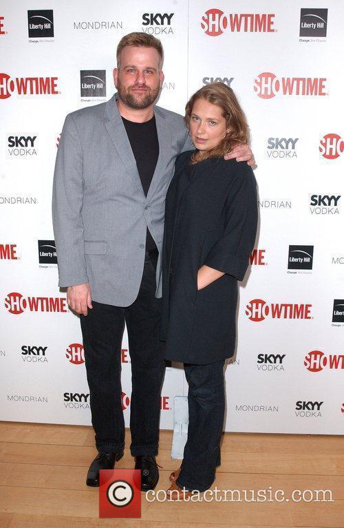 Stephen Wallem and Merritt Wever Showtime's 2010 Emmy...