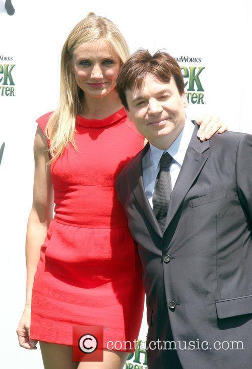 Cameron Diaz and Mike Myers arrives at the...