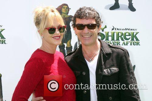 Melanie Griffith and Antonio Banderas arrives at the...