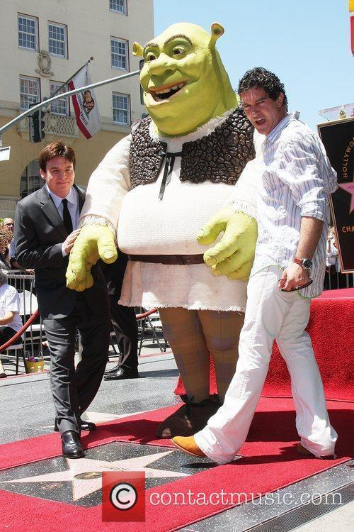 Mike Myers, Shrek and Antonio Banderas 2