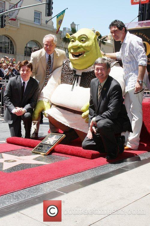 Mike Myers, Shrek, Antonio Banderas & Chamber Officials...