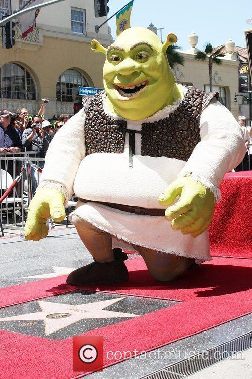 Shrek honoured with the 2408th star on the...