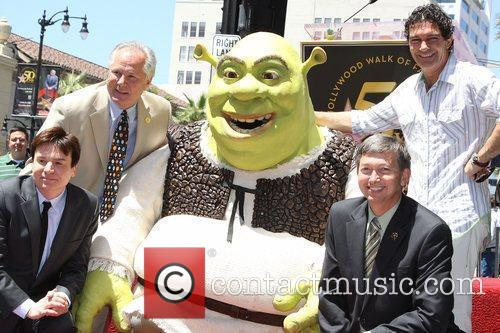 Mike Meyers, Shrek, Antonio Banderas Shrek is honoured...