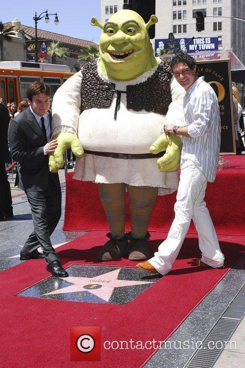 Mike Myers, Shrek and Antonio Banderas Shrek honoured...