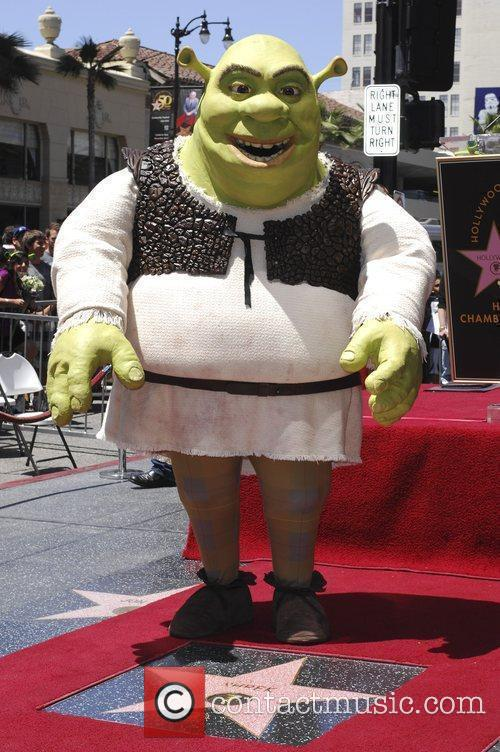 Shrek Shrek honoured with the 2408th star on...