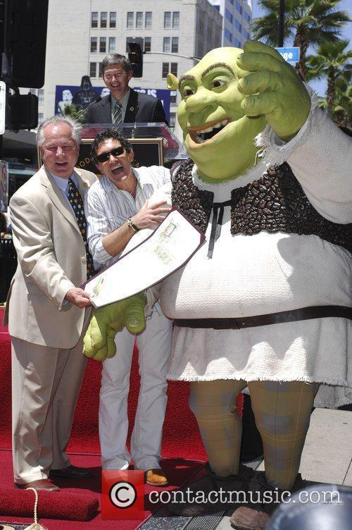 Tom LaBonge, Shrek and Antonio Banderas Shrek honoured...