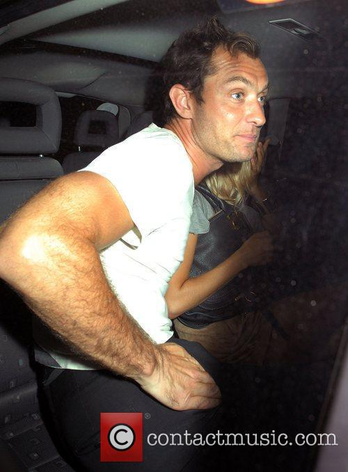 Jude Law leaving a kebab shop in Camden
