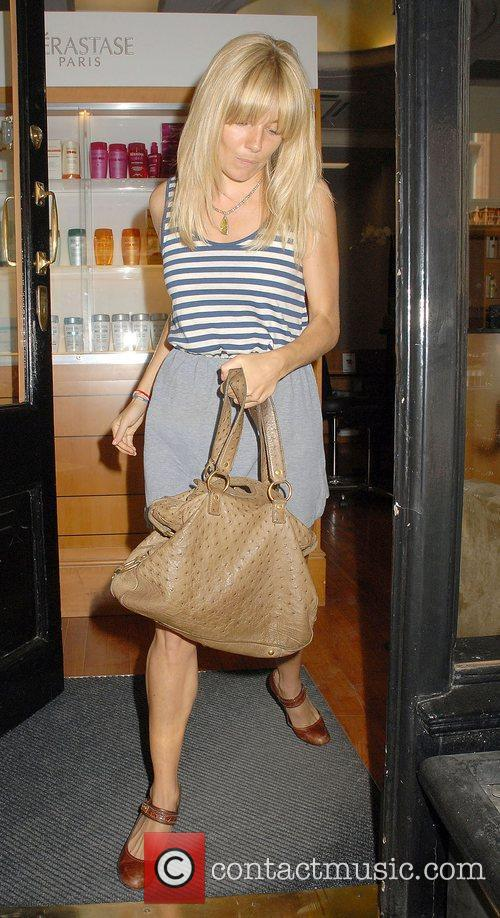 Sienna Miller leaves a hair salon in Mayfair...