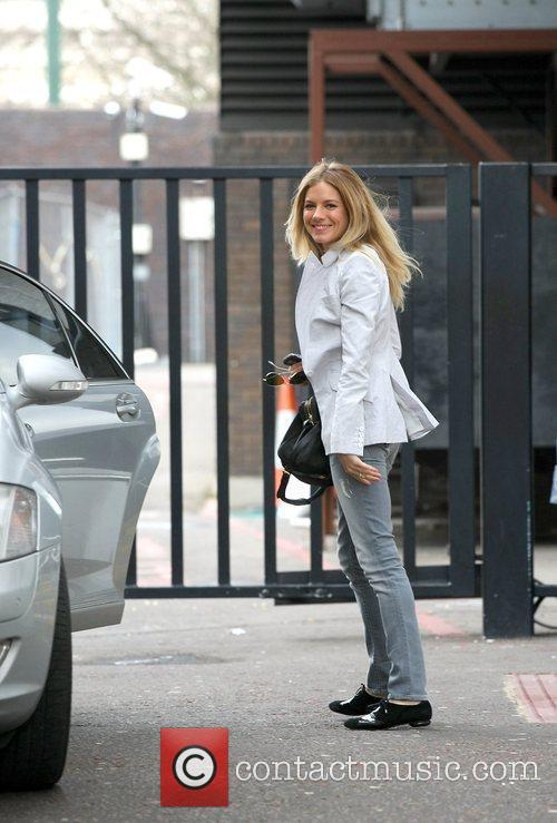 Sienna Miller leaving the London Studios after appearing...