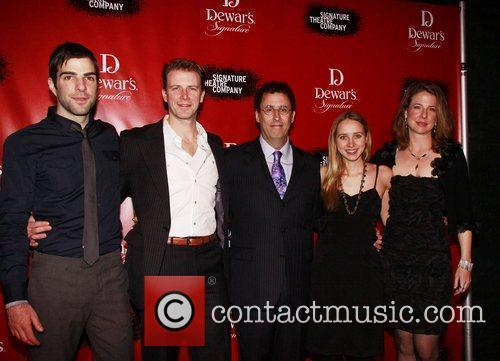 Zachary Quinto, Tony Kushner and Zoe Kazan 3