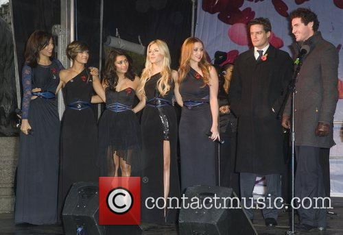Rochelle Wiseman, Frankie Sandford, Mollie King, The Saturdays, Una Healy and Vanessa White 1