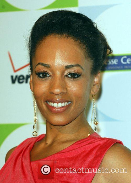 Melyssa Ford attending the 2010 Silver Rose Gala...