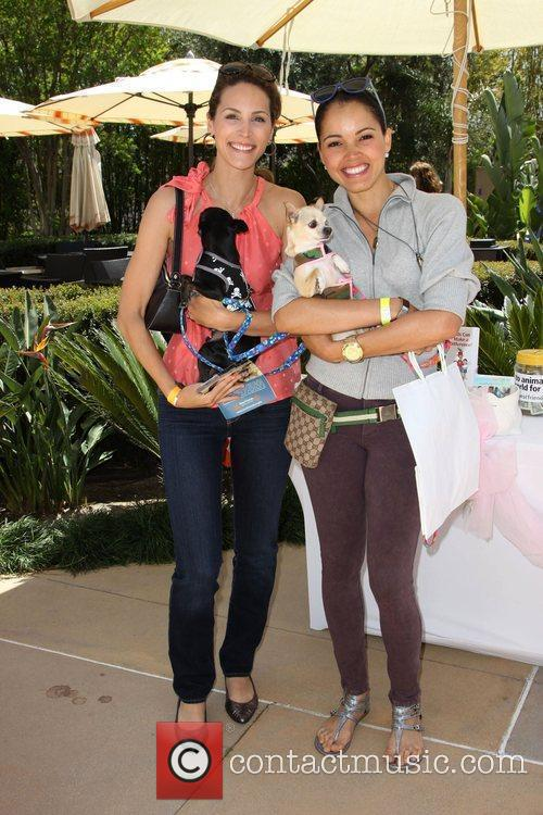 Cristina Nardozzi and Susie Castillo and her dog...