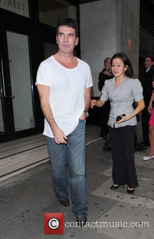 Simon Cowell seen leaving Sony Headquarters after a...