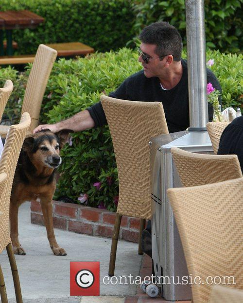 Simon Cowell was spotted out at a restaurant...