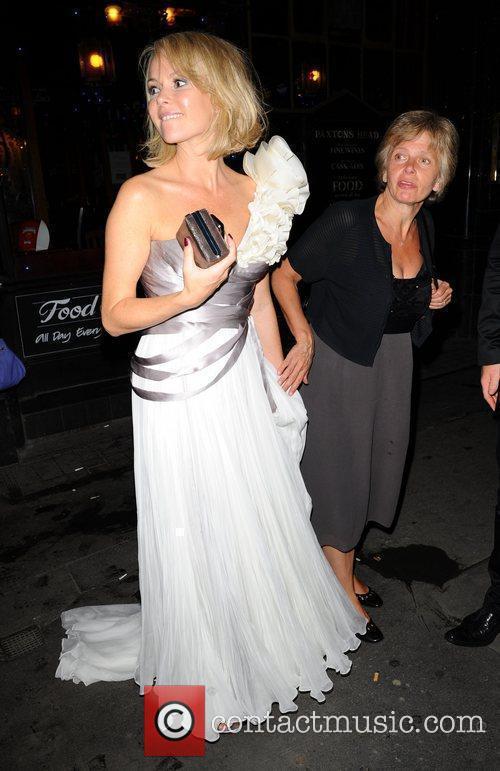 Amanda Holden leaving Mr Chows restaurant