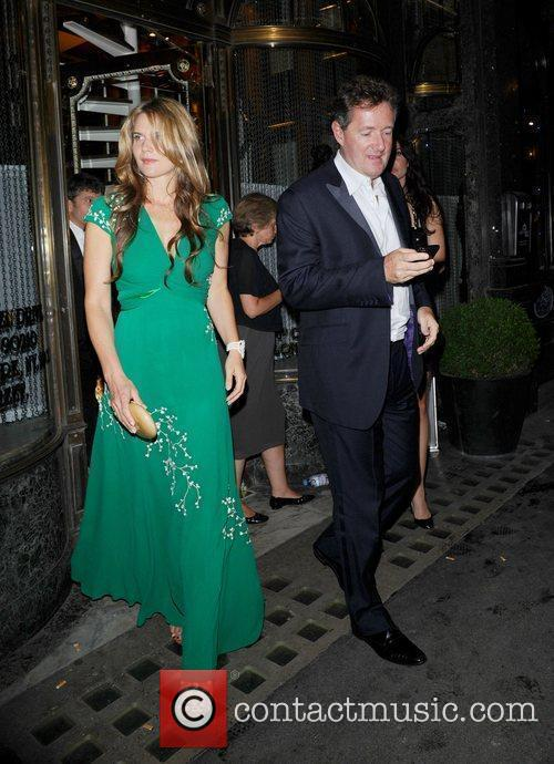 2876599 - Piers Morgan and Celia Walden leaving Mr Chows restaurant