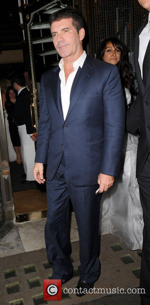 Simon Cowell leaving Mr Chows restaurant Lonson, England