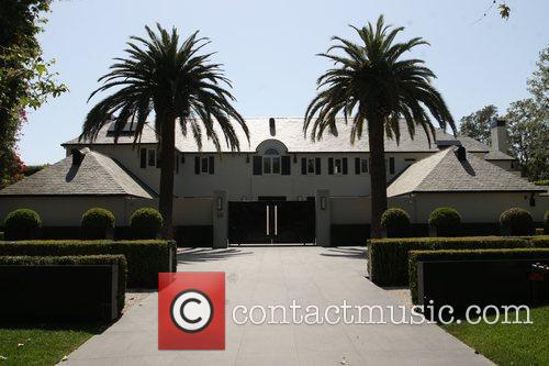 Simon Cowell's house in Beverly Hills Los Angeles,...