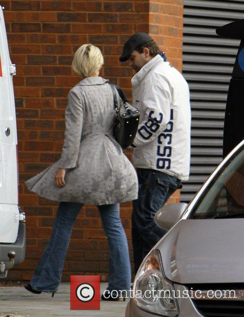 Simon Gregson, out and about with his wife...