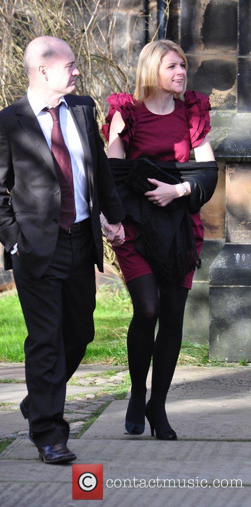 Jayne Danson and husband Robert Beck arrives for...