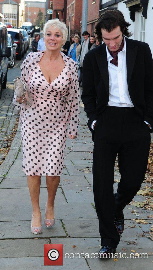 Denise Welch and Guest arrives for the wedding...