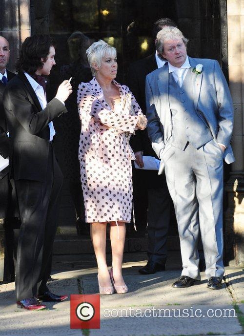 Guest, Denise Welch and Charles Lawson attend the...