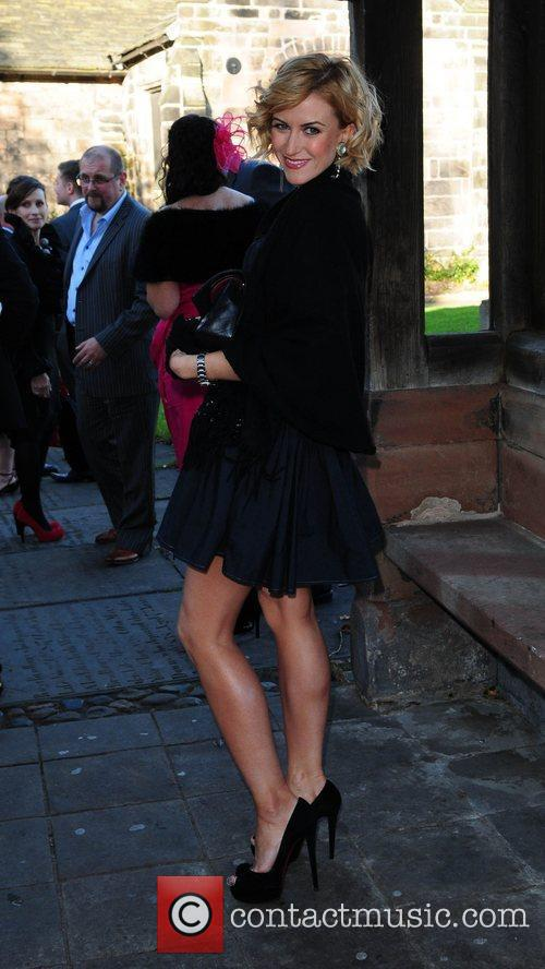 Katherine Kelly  arrives for the wedding of...