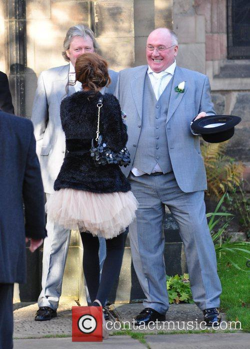 Shobna Gulati and Guest attend the wedding of...