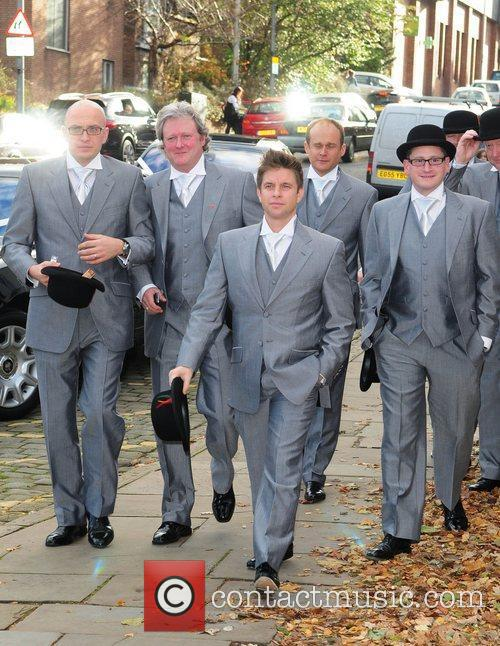 Charles Lawson and Guests arrives for the wedding...